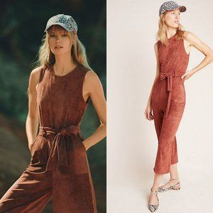 NWT Anthropologie Suede Jumpsuit